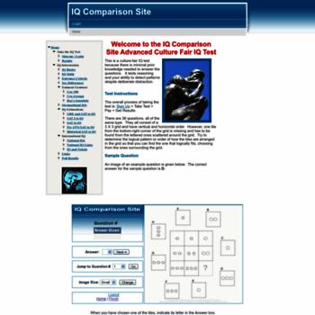iqcomparisonsite com at WI  IQ Comparison Site Advanced Culture Fair