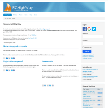 irchighway net at WI  Your IRC Superhighway - IRCHighWay