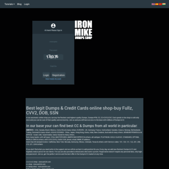 ironcash24 com at WI  ✪ Online Dump Shop - CC/CVV2 Shop