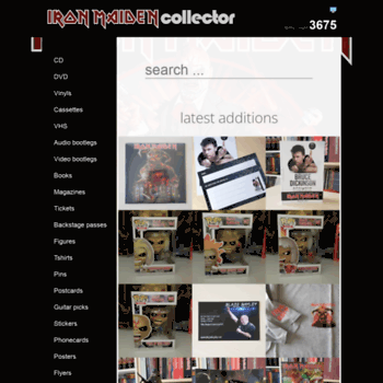ironmaidencollector com at WI  Iron Maiden Collector