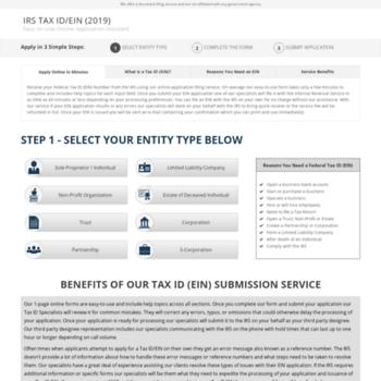irs-tax-id-number com at WI  Federal Tax ID (EIN) Application