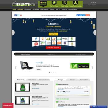 islambox com at WI  Islam Box - Arabic TV, Arabic News And Live Arab