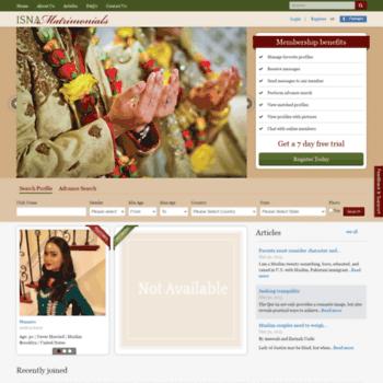 isnamatrimonials net at WI  ISNA Matrimonials, Muslim Matrimonial