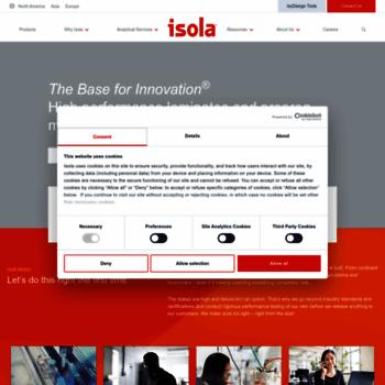 isola-group com at WI  Copper-Clad Laminates & Prepreg Materials for