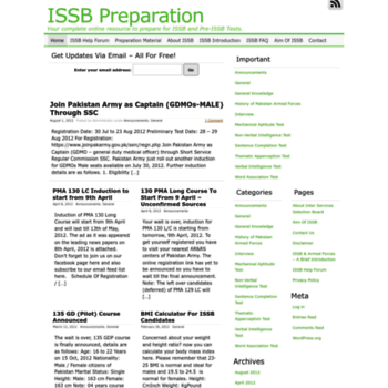 issbpreparation com at WI  ISSB Preparation - Your complete online