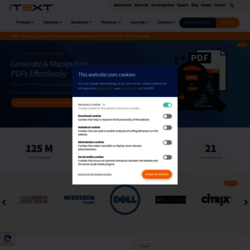itextpdf com at WI  iText is The Leading PDF platform for