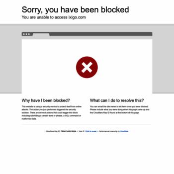 ixigo com at WI  ixigo - Flight Booking, Train Reservation, Hotels