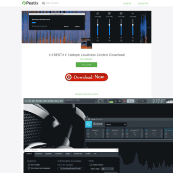 Веб сайт izotope-loudness-control-download-9.peatix.com
