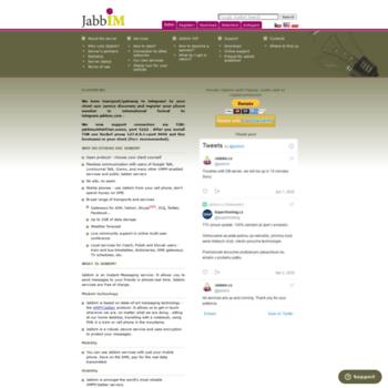 jabbim.com at WI. Jabbim - XMPP/Jabber server - instant messaging