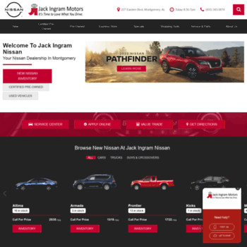 Jack Ingram Nissan >> Jackingramnissan Com At Wi Nissan Dealership Montgomery Al