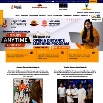 Jagannathuniversity.org thumbnail