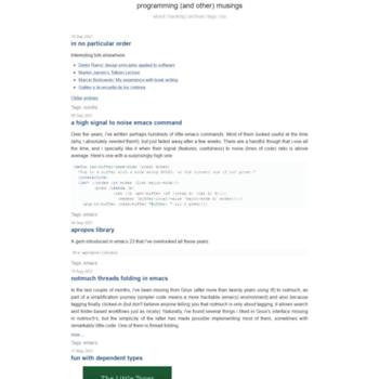 jao io at WI  programming musings
