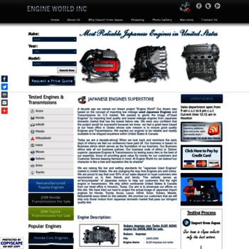 japaneseusedengines net at WI  Used Japanese Engines&