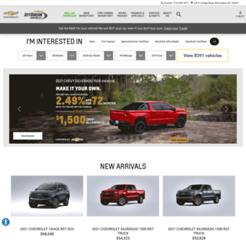Used Car Dealerships In Jacksonville Nc >> Jeffgordonchevy Com At Wi Jeff Gordon Chevrolet In
