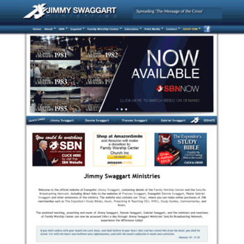 jimmyswaggart com at WI  Jimmy Swaggart Ministries | Family Worship