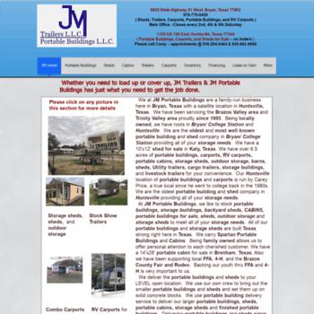 jmtexas net at WI  JM Portable Buildings and JM Trailers: TX