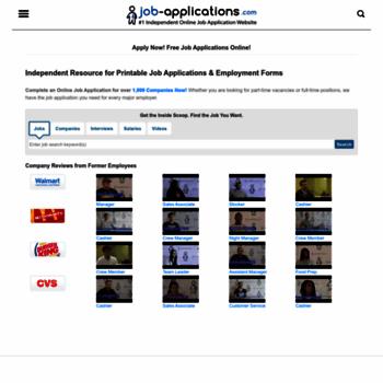 job applications com at wi free printable job application forms
