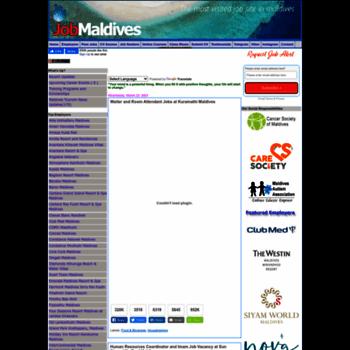 job-maldives com at WI  Job Maldives