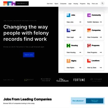 jobsforfelonshub com at WI  Jobs For Felons Hub - 1000's of