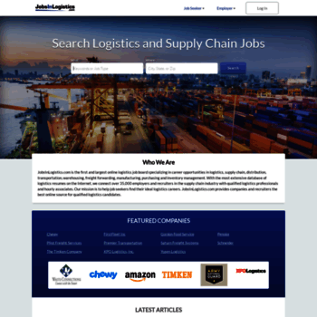jobsinlogistics com at WI  Logistics Jobs | Transportation