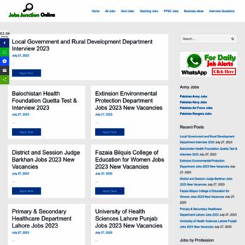 jobsjunctiononline com at WI  Home - Jobs Junction Online