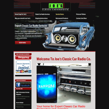 Joesclassiccarradio.com thumbnail