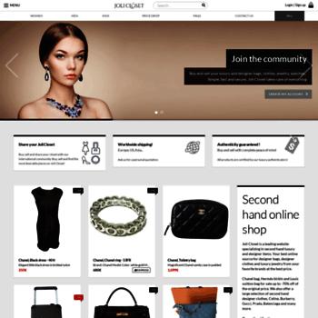 2dba9560033 jolicloset.com at WI. Second hand designer bags, second hand clothes ...
