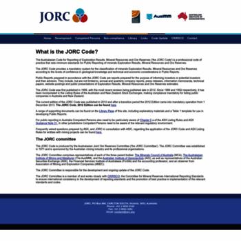 Jorc.org thumbnail