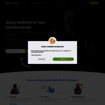 jouwweb.nl at wi. gratis eigen website maken. eenvoudig én leuk