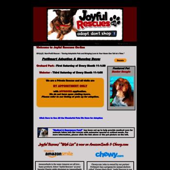 joyfulrescues com at WI  Joyful Rescues - Non-profit Animal