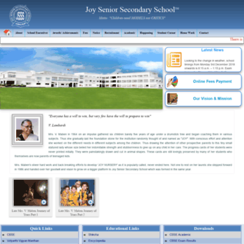 Joyseniorsecondary.ac.in thumbnail