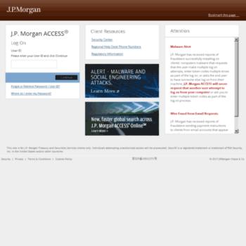 jpmorganaccess com at WI  Log On - J P  Morgan Access
