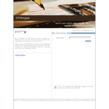 jpmpb001 jpmorgan com at WI  J P  Morgan Private Bank Client Website