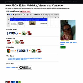 json-xls com at WI  json-xls com - json/xml to excel/CSV/html online