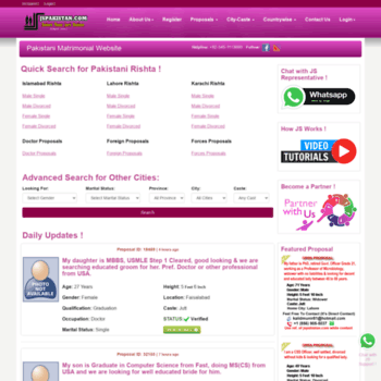 jspakistan com at WI  JSPakistan Com - Matrimonial Social