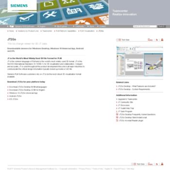 jt2go com at WI  JT2Go: Siemens PLM Software