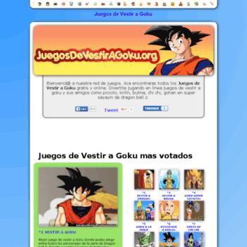 Juegosdevestiragokuorg At Wi Juegos De Vestir A Goku