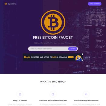 juicybtc net at WI  JuicyBTC - Free Bitcoin Faucet