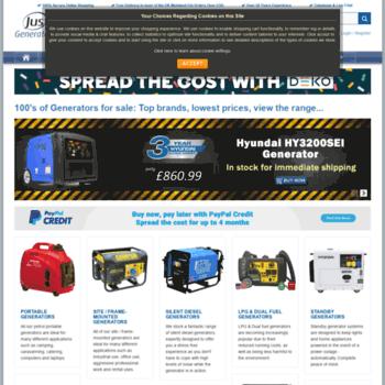 justgenerators co uk at WI  Generators for Sale UK - Just