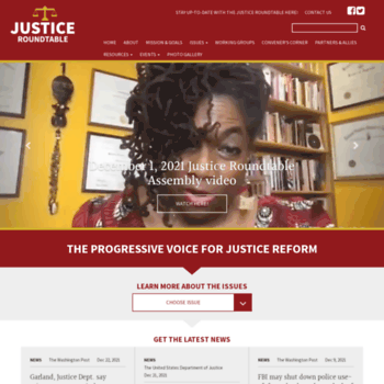 Justiceroundtable.org thumbnail
