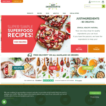 justingredients co uk at WI  Quality Herbs & Spices Online
