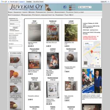 juvekim.fi at WI. Juvekim Oy - antikvariaatti Arwo Paperi 77a38043d8