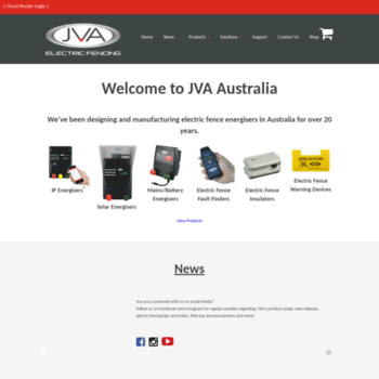 jva-fence com au at WI  Electric Fencing - Fence Energisers