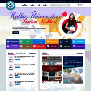 Kafkas.edu.tr thumbnail