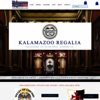 kalamazooregalia com at WI  Welcome to Kalamazoo Regalia com!