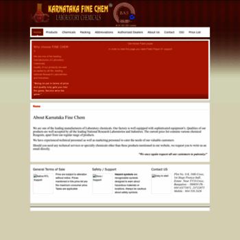 karnatakafinechem com at WI  Laboratory Chemical Suppliers