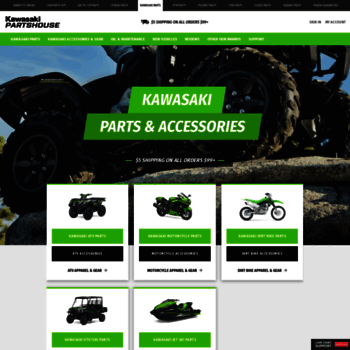 kawasakipartshouse com at WI  Kawasaki Parts House: OEM