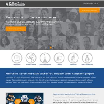 kelleronline com at WI  KellerOnline® Workplace Safety