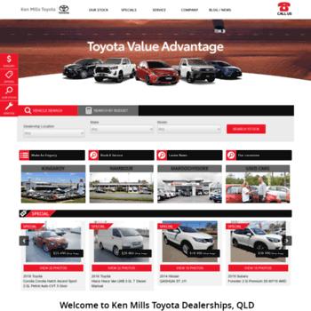 Ken Mills Toyota >> Kenmillstoyota Com Au At Wi Sunshine Coast Toyota Dealer