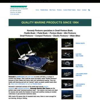 Kennedypontoonscom At Wi Pontoon Boats Paddle Boats Compact